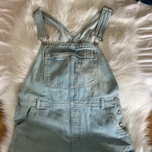 Top shop overalls, light wash, size 10